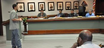 A citizen addresses St. Martin Parish Council